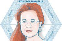 Susanne Wigorts Yngvesson, professor i etik. Illustration: Liv Widell.