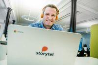 Jonas Tellander, vd för Storytel, gläds åt oväntat bra utveckling under fjärde kvartalet. Arkivbild