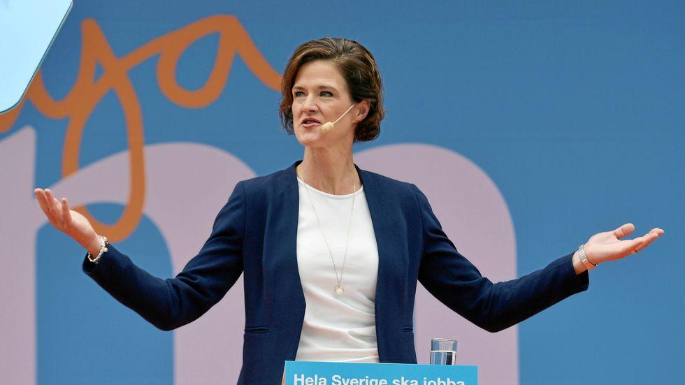 Anna Kinberg Batra (M) talade i Almedalen på söndagen.