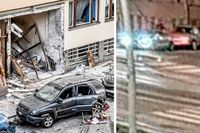 Lämnar före explosionen – se SVT:s övervakningsfilm