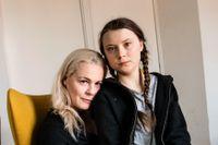 Malena Ernman och Greta Thunberg