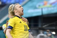 Emil Forsberg och Sverige fick till slut måljubla.