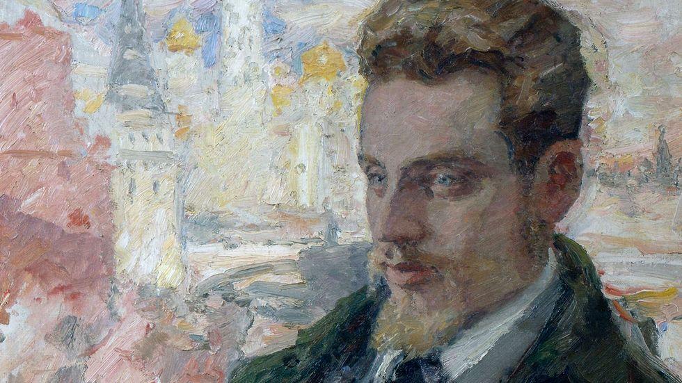 Rilke i Moskva, målning av Leonid Pasternak.