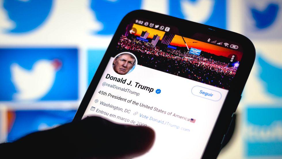 Trumps twitterkonto är stängt.