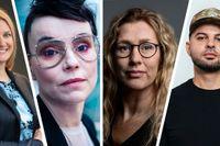 Fr v : Caroline Snellman, Lo Kauppi, Johanna Lindqvist och Shahab Ahmadian