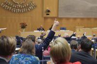 Budgetomröstningen i riksdagen.