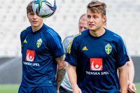 Mattias Svanberg, till höger, är högaktuell som Albin Ekdals ersättare i onsdagskvällens VM-kval mot Grekland i Aten.