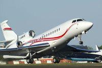 Affärsplan av typen Falcon 7X, som SCA använder för sina flygresor.