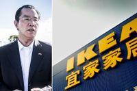 Kinas ambassadör i Sverige Gui Congyou har krävt ursäkter av svenska staten. Ikea oroar sig för den kinesiska marknaden.