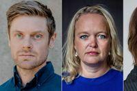 Jacob Flärdh, Anna Karin Hildingson Boqvist och Malin Roux Johansson.