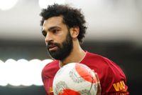 Liverpools Mohamed Salah kan gå miste om Premier League-titeln. Allt fler vill ställa in allt spel och stryka säsongen helt. Arkivbild.