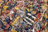 Jackson Pollocks tavla Number 17A.