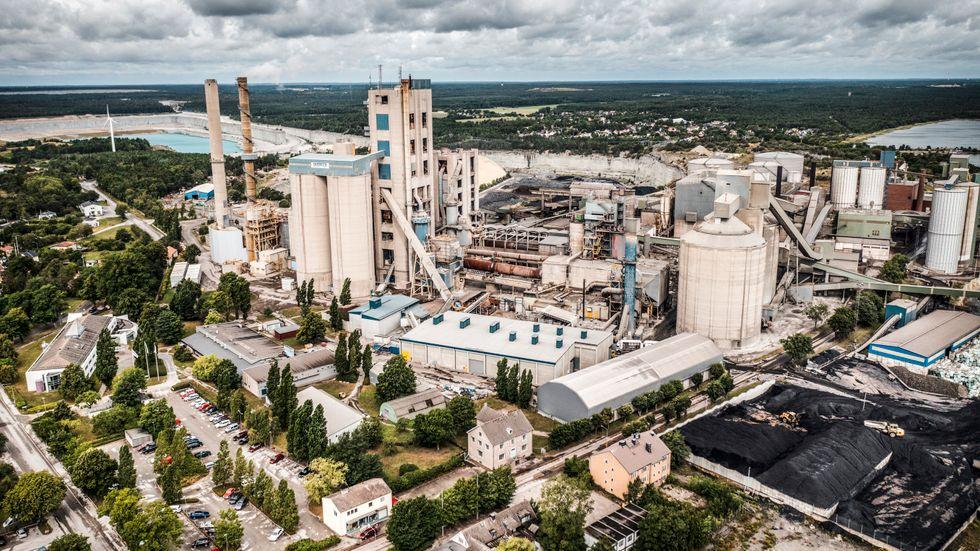 Cementas fabrik i Slite på Gotland.