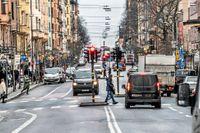 Hornsgatan på Södermalm i Stockholm är en av de gator där miljözoner planeras införas.