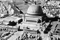 """Modell av den planerade jättehuvudstaden """"Germania"""" som var tänkt att ersätta Berlin."""