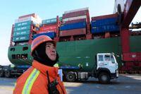 Den kinesiska exporten tar fart.