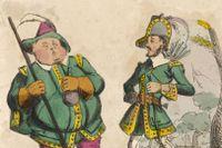 Lille John och Robin Hood.