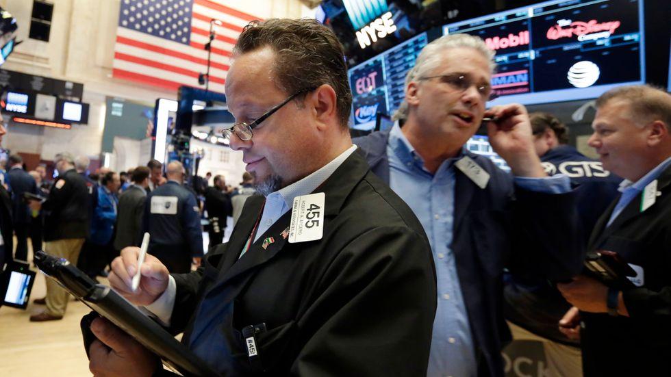 USA-börserna stängde blandat på måndagen. Arkivbild.