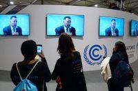Arnold Schwarzenegger var ett av dragplåstren på klimatmötet i Polen på måndagen.