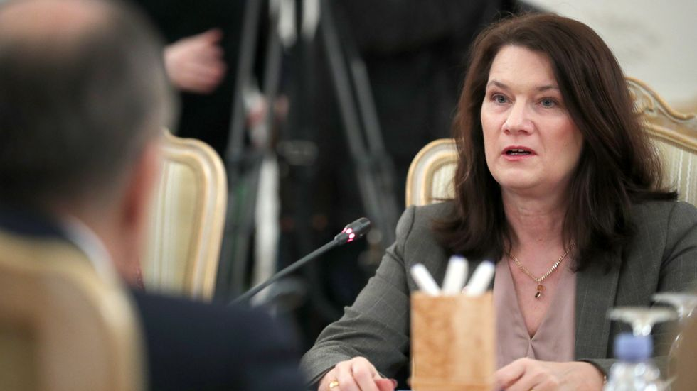 Utrikesminister Ann Linde (S) i möte med ryska utrikesministern Sergej Lavrov i Ryssland den 4 februari.