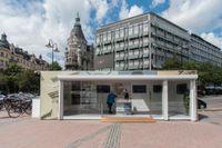 ADIA:s paviljong på Stureplan i Stockholm. Här har ADIA, som rankas som världens största fastighetsaktör, presenterat sina ombyggnadsplaner i Stockholm.