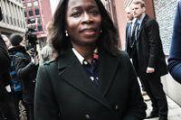 Liberalernas partiledare Nyamko Sabuni på väg till ett partiledarmöte tidigare i år.