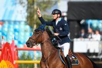 Peder Fredricson och hästen All In vann EM-guld i år. Arkivbild.