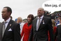 Stewart Cink till höger glömdes bort när USA:s Ryder Cup-lag presenterades.