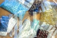 Illegala läkemedel i beslag. Arkivbild från Arlanda 2015 i samband med den årliga internationella operationen Pangea.