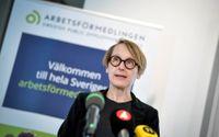 Arbetsförmedlingens analyschef Annika Sundén har vecka efter vecka fått presentera allt dystrare siffror. Arkivbild.