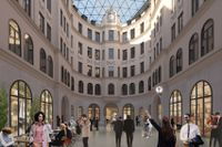 """Stureplans """"Marmorhallarna"""" kopplas till den nya gallerian och får en t-banenedgång."""