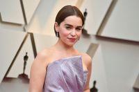 "Emilia Clarke spelar Daenerys Targaryen i ""Game of thrones"". Arkivbild."