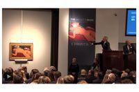 "Amedeo Modiglianis ""Nu couché/Red nude"" såldes på Christie's i New York för 170 405 000 dollar inklusive köparprovision."
