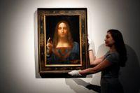 """Tavlan """"Världens frälsare"""" är en av Leonardo Da Vincis tavlor som ansetts förlorade men som upptäckts igen i modern tid. Arkivbild."""