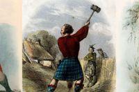 Skotska klaner: Ross, Campbell och MacDonald.
