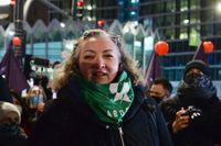 Marta Lempart har varit med och arrangerat demonstrationer för aborträtt i Polen. Nu riskerar hon ett flerårigt fängelsestraff. Arkivbild.