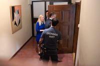 Den tidigare Kinaambassadören Anna Lindstedt i Stockholms tingsrätt. Hon anklagas för egenmäktighet vid förhandling med främmande makt, efter ett möte om den fängslade förläggaren Gui Minhai.