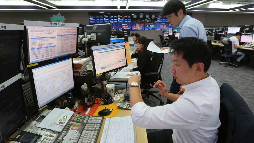 Allt fler sydkoreaner har ett jobb att gå till. Arkivbild.