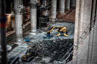 Den omfattande eldsvådan i Notre-Dame förstörde en stor del av katedralens tak.