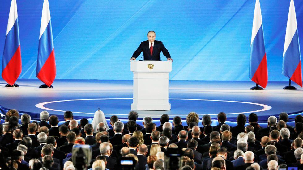 Vladimir Putin höll på onsdagen sitt årliga tal till parlamentet.