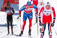 Dario Cologna, Alexander Legkov och Petter Northug slåss om världscuptiteln.
