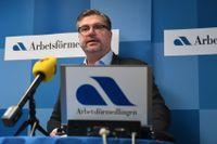 Arbetsförmedlingen, här med generaldirektör Mikael Sjöberg, varnar för konsekvenser av M-KD-budget. Arkivbild.