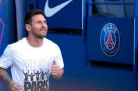 Lionel Messi när han presenterades i PSG.