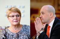 Maud Olofsson och Fredrik Reinfeldt.