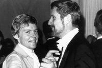 Märta och Henrik Tikkanen 1976.