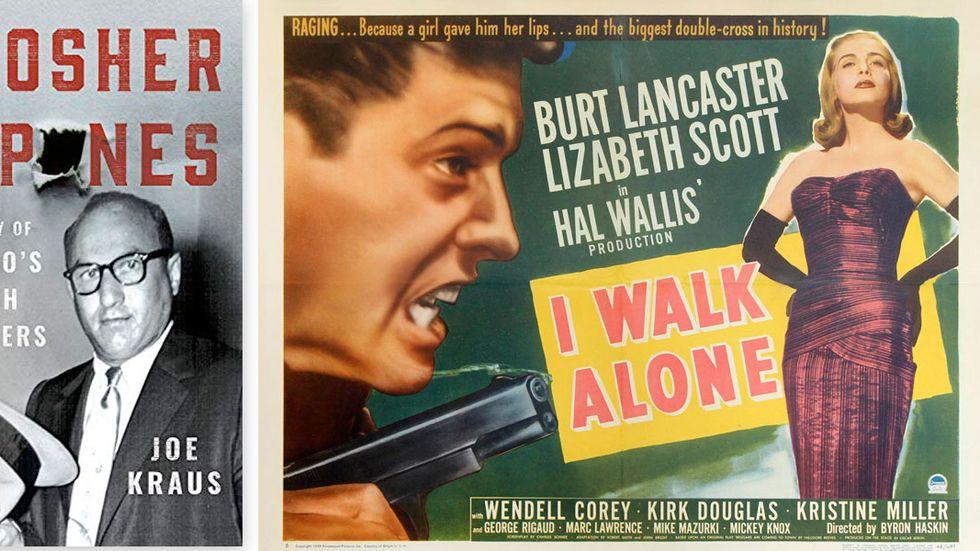 """Till höger: affisch för gangsterfilmen """"I walk alone"""" från 1947."""