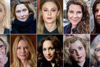 Sofia Helin, Alicia Vikander, Lena Endre och Alexandra Rapaport är några av skådespelarna som undertecknat uppropet som lett till en lavin av vittnesmål.