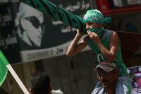 En palestinsk pojke vid en demonstration till stöd för Hamas den 22 augusti.