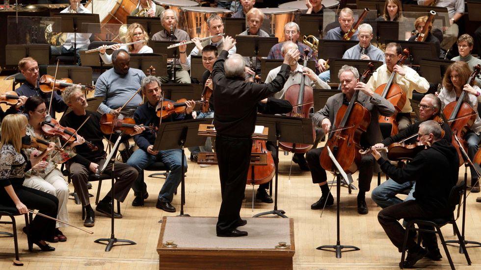 Detroits symfoniorkester 2011, under ledning av Leonard Slatkin.