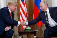 Donald Trump och Vladimir Putin under ett möte i Helsingfors i somras.